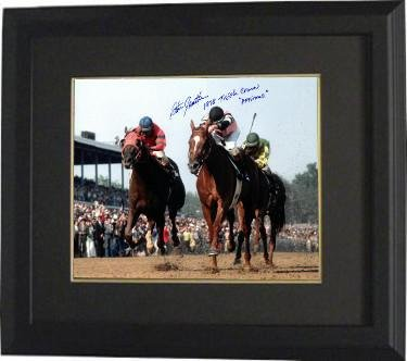 Steve Cauthen signed Kentucky Derby Horse Racing 16X20 Photo Custom Framed dual 1978 Triple Crown & Affirmed