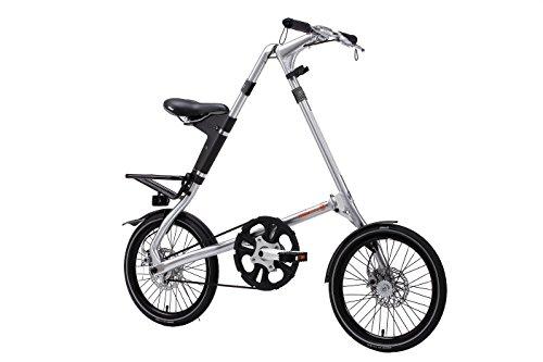 "Strida EVO folding bicycle, internal 3 speed hub, folds to 45x20x9"", Brushed Silver"