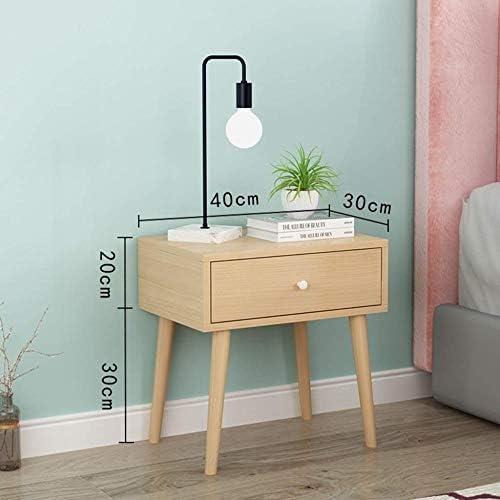 安定した ベッドサイドサイドテーブルウッドベースのパネルベッドサイドテーブルは簡単で、耐久性と実用的なシェイプ ファッション (Color : D)