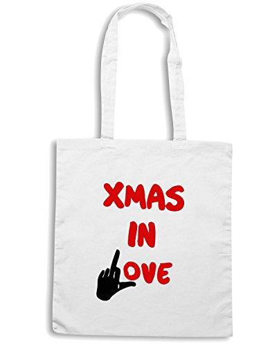 T-Shirtshock - Bolsa para la compra TDM00303 xmas in love Blanco