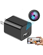 Spy Camera USB Phone Charger by CamFI -1080p HD WIFI Hidden Camera, Wireless Wall Plug USB Charger [Motion Detection, AC Adapter, Remote App Control] Nanny cam, Home, Kids, Baby, Pet Monitoring Cam (USB charger)