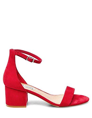 Steve Madden Red Heel Sandal by Red