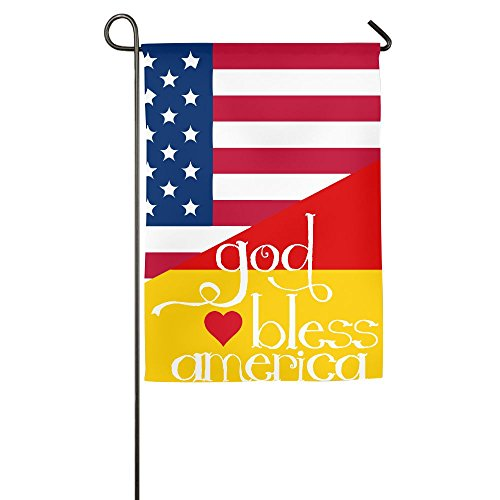 God Bless America Text Garden Flag | Two Sizes - 1218inch & (Halloween Parade Clipart)