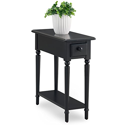 (Leick 20017-BK Coastal Notions Chairside Table, Swan Black)