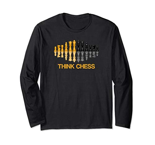 Think Chess Reflective Chess Set Pieces Geek Advice Long Sleeve T-Shirt (Best Chess App Android 2019)