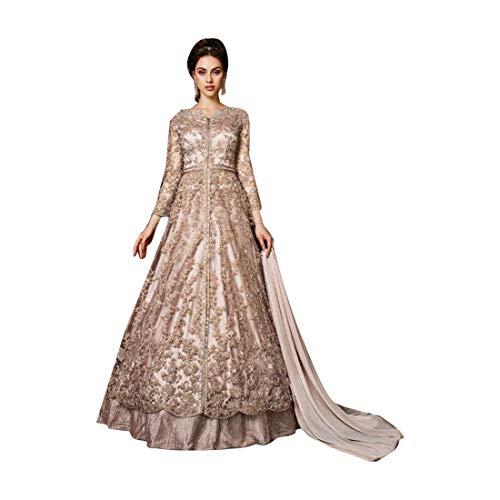 - Gorgeous Indian Bollywood Designer Net Embellished Anarkali Lehenga Pant style Women Wedding Cocktail Party wear 7990