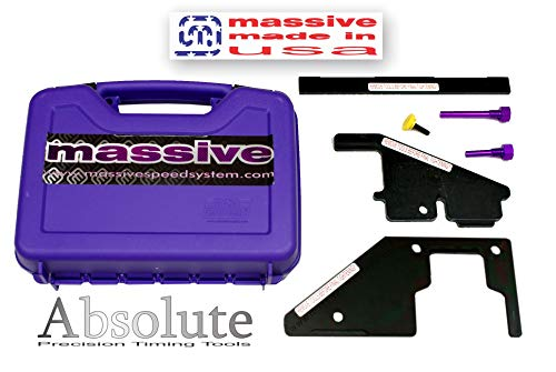 Massive Absolute Master PRO+ MADE USA Precision Cam Timing Tool Set compatible w Ford Mazda Zetec Duratec MZR Engines 2.0 2.3 2.5 Focus Fusion Escape Ranger 3 5 6 Miata MX-5 Turbo DISI Mazdaspeed CX-7