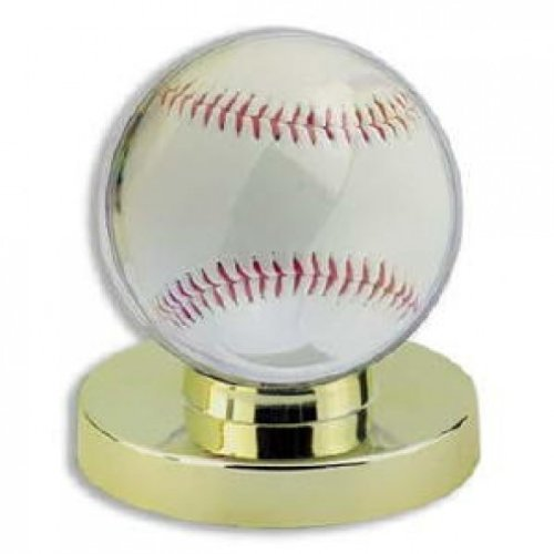 Baseball Display Case Holder - Gold Base