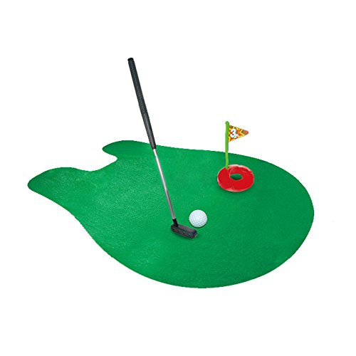 Ameesi Toilet Golf Game Mini Pretend Golf Toy Bathroom Potty Time Funny Putter Mat Gift -