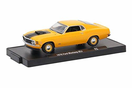 - Castline M2 1970 Ford Mustang 428 SCJ, Grabber Orange 11228/47-1/64 Scale Diecast Model Toy Car