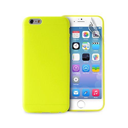 custodia silicone iphone 7 gialla