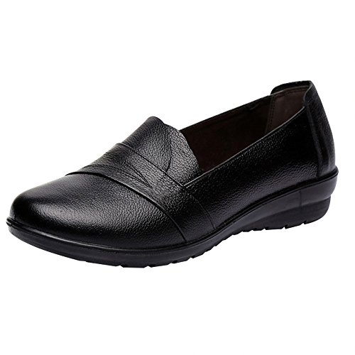 Optimal Women Work Leather Pump Shoes Non Slip (Flat Womens Shoes Dress)