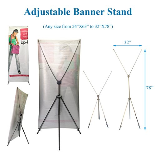 TheDisplayDeal Adjustable Aluminum Banner Stand product image