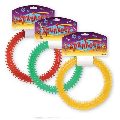 SPUNKEEZ PVC SPIKE RING 4.5'' #35088, CASE OF 144 by DollarItemDirect