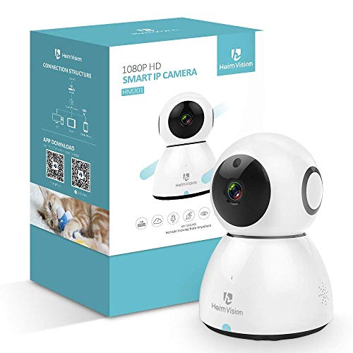 HeimVision 1080P Wireless IP Camera, Pan/Tilt/Zoom Cloud Cam, WiFi Indoor Security Surveillance System w/ Night Vision/2-Way Audio, Pet Camera by HeimVision