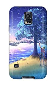 Galaxy S5 Case Slim [ultra Fit] The Meteor Shower Protective Case Cover