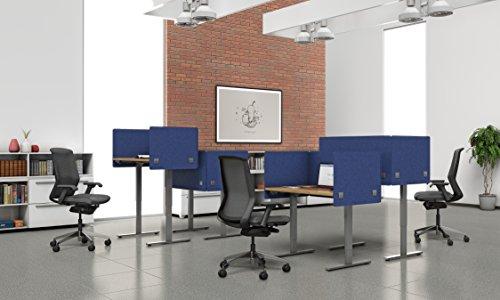 "VaRoom Acoustic Partition, Sound Absorbing Desk Divider – 48"" W x 24""H Privacy Desk Mounted Cubicle Panel, Ash Grey by VaRoom (Image #7)"