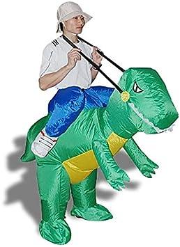 Disfraz de explorador sobre dinosaurio para fiesta de disfraces ...