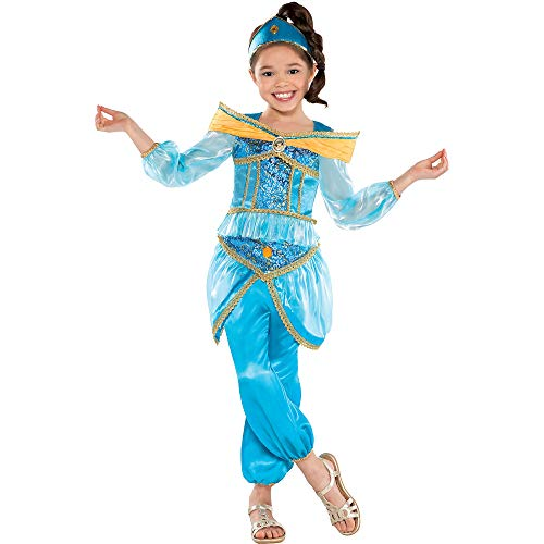 Suit Yourself Aladdin Jasmine Costume for Girls, Size Medium, Includes a Detailed Shirt, Harem Pants, and a Headband -