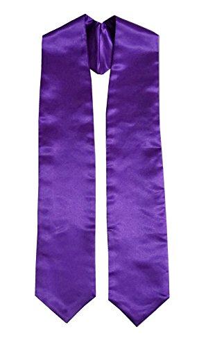Grad Days Unisex Adult Plain Graduation Stole 60'' Long Purple -