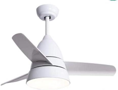 Luz de ventilador de techo para niños de 26 pulgadas Luz de ventilador para habitación de niños con control remoto Moda moderna luz de ventilador de techo - blanco ...