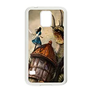Alice in Wonderland We're all mad here Cheshire Cat Smile Face Unique Durable Hard Plastic Case Cover For Samsung Galaxy S5 RVNLI_W454509