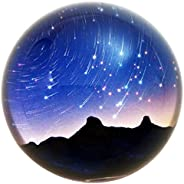 Waltz&F Crystal Meteor Shower Dome Paperweight Galss Globe Hemisphere Home Office Table Decora