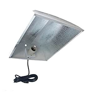 Reflector hidropónico Grow luz–la perfecta iluminación para interior plantación–doble ala Reflector parabólico para luz máxima eficiencia