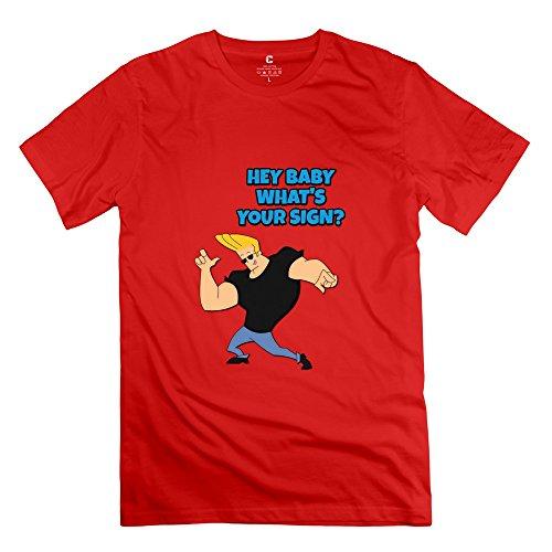 StaBe Men Johnny Bravo Logo T-Shirt Short Sleeve Vintage XS