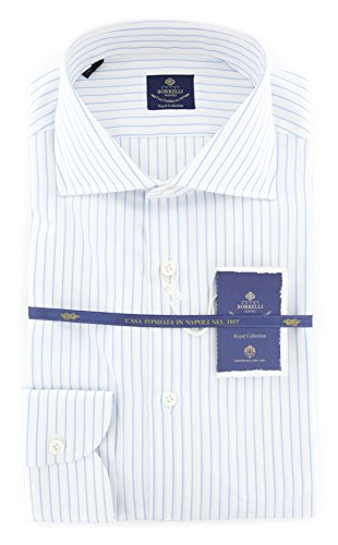 New Luigi Borrelli Light Blue Striped Extra Slim Shirt