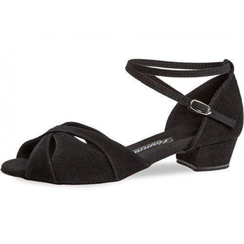 Bloc Baile Cm Mujeres 129 Zapatos 001 141 De Diamant 8 Ante Negro 2 q7SFRww