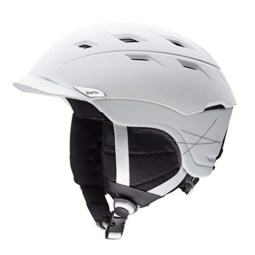 Smith Optics Unisex Adult Variance Snow Sports Helmet - Matte White Large (59-63CM) (Snow Variant Helmet)