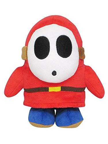 Little Buddy Super Mario All Star Collection 1591 Shy Guy Stuffed Plush, 6.5