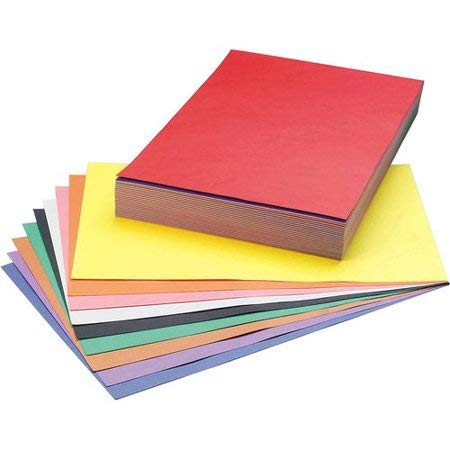 SunWorks Construction Paper, 12X18, Smart-Stack Assortment, 150 Sheets 12X18 6526