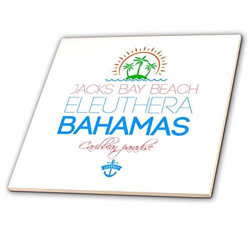 Eleuthera Floor - 3dRose Alexis Design - Caribbean Beaches Bahamas - Jacks Bay Beach, Eleuthera, Bahamas. Summer travel gift, souvenir - 4 Inch Ceramic Tile (ct_318372_1)