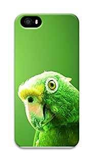 iPhone 5 5S Case Green Parrot 3D Custom iPhone 5 5S Case Cover