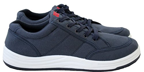 A&H Footwear Mens Casual Canvas Boys Skate Lace up Low Top Trainers Sneakers Pumps Shoes Sizes UK 7-12 Navy/Dek 4RV5WovPX