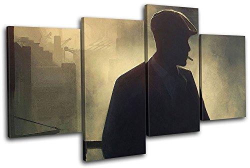 Bold Bloc Design - Peaky Blinders Television Show TV 200x113cm MULTI Canvas Art Print Box Cuadro enmarcado Colgante de pared - Hecho a mano en el Reino Unido - Enmarcado y listo para colgar