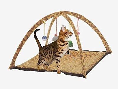 Genérico NG tienda de campaña juguete juguete Cat ACTIV Activity PLAYING Perro Mat Cama Pad Bells nuevo mascota gato elles perro Mat caseta campanas: ...
