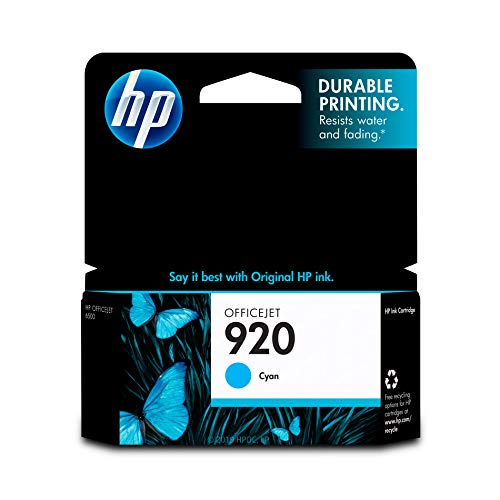 HP 920 Cyan Ink Cartridge (CH634AN) for HP Officejet 6000 6500 7000 7500 ()