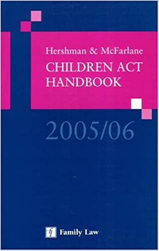 Book Hershman and McFarlane Children Act Handbook 2005/6