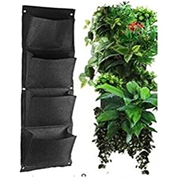 Delightful Glovion Vertical Wall Mounted Polyester Wall Planting Bags Flower Grow Bag  Living Indoor Wall Garden