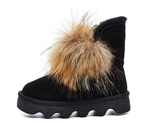 Caliente Zapatos Dandanjie Invierno Black Botas Mujeres Animados De Antideslizante Pompon Dibujos Nieve 66zqS0w