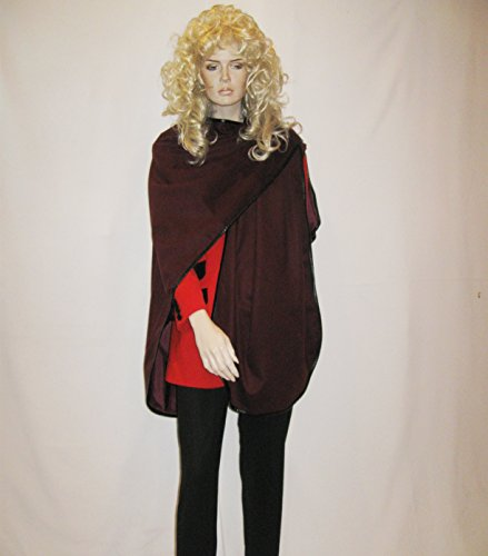 Cashmere Pashmina Group: Cashmere Cape in pure Cashmere with genuine Leather Trim & lining (Wine)
