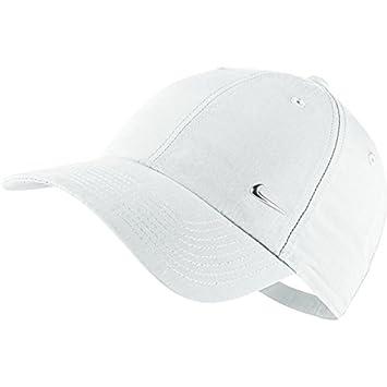 Nike Unisex Metal Swoosh Logo Cap - White Metallic Silver 2e0b9712849