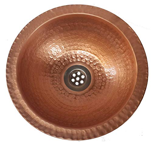 Handcrafted Copper Bathroom Sink - Egypt gift shops Very SMALL Compact Tiny Traditional Bright Polished Natural Pure Copper Bathroom Sink Flat Lip Caravan Motor Mobile Home Vehicle Trailer Toilet Lavatory Basin Remodel