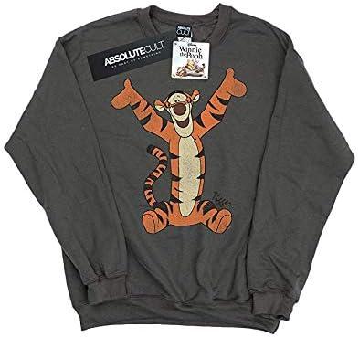 Disney Womens Winnie The Pooh Classic Tigger Sweatshirt Large Light Graphite