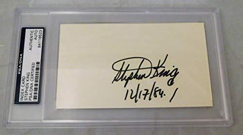 Autographed 3x5 Index Card PSA SLABBED (B) ()