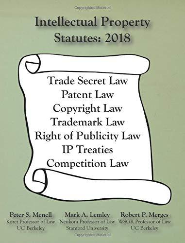Download Intellectual Property Statutes 2018 PDF