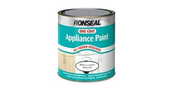 Ronseal 35095 una capa aparato pintura blanca brillante 500 ml ...